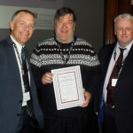 Councillor Eric Broadbent receives award from TUC - March 2014
