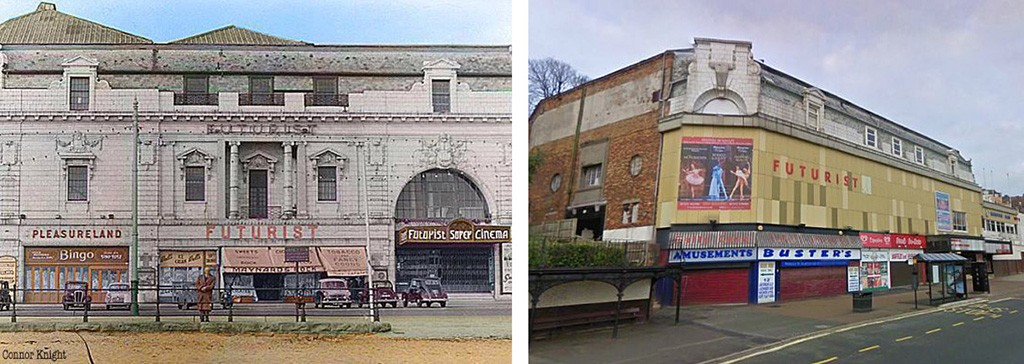 Futurist Theatre, then and now